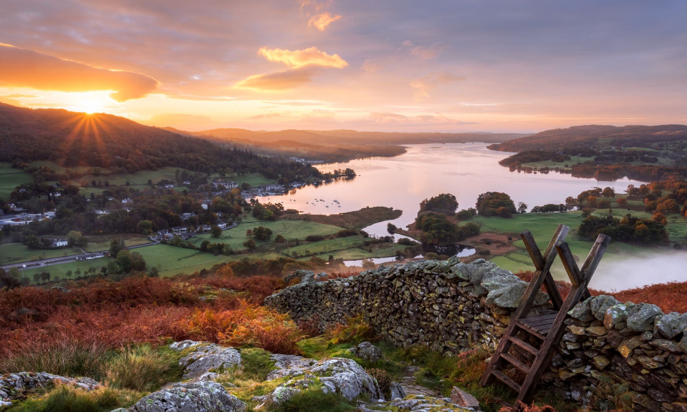 Lake District at sunset